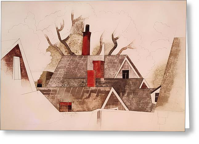 Red Chimneys Greeting Card