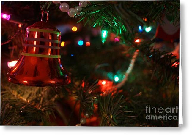 Red Christmas Bell Greeting Card