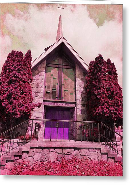 Greeting Card featuring the photograph Red Church by Laurie Tsemak