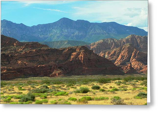 Red Cliffs National Conservative Area Greeting Card by Natalie Ortiz