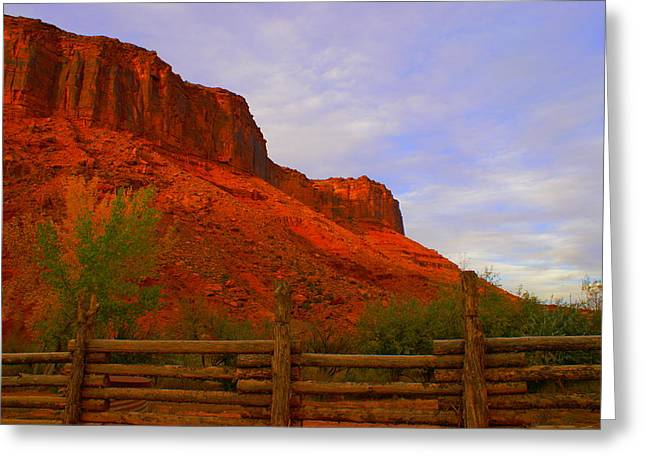 Red Cliffs Near Moab Ut Greeting Card