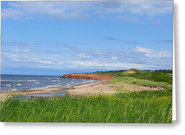 Red Cliffs Of Pei Greeting Card