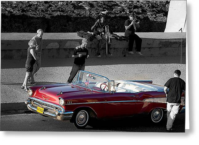 Red Convertible II Greeting Card
