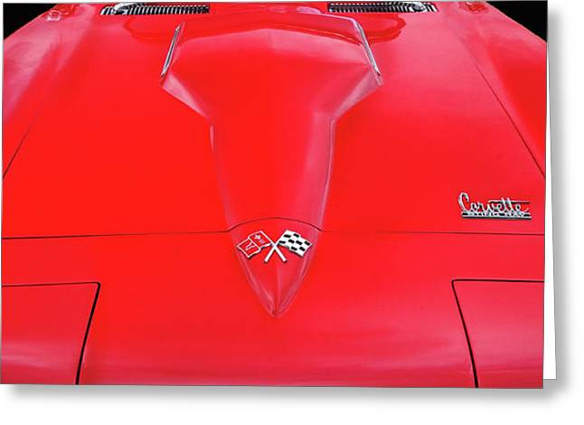 Greeting Card featuring the photograph Red Corvette by Dave Mills