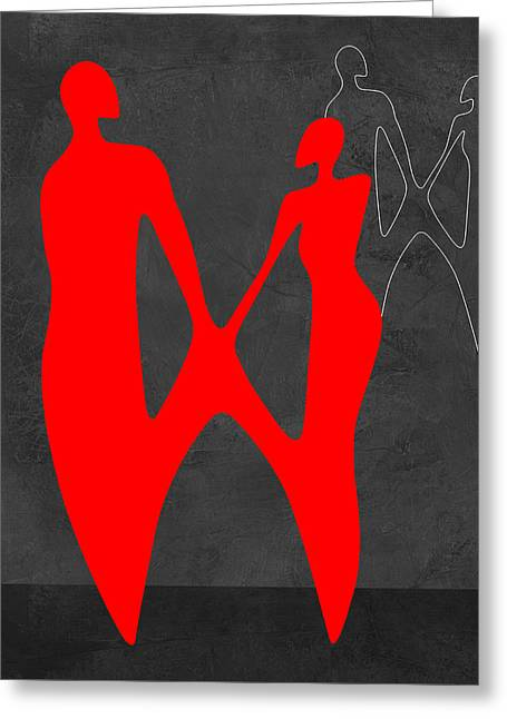 Red Couple 2 Greeting Card
