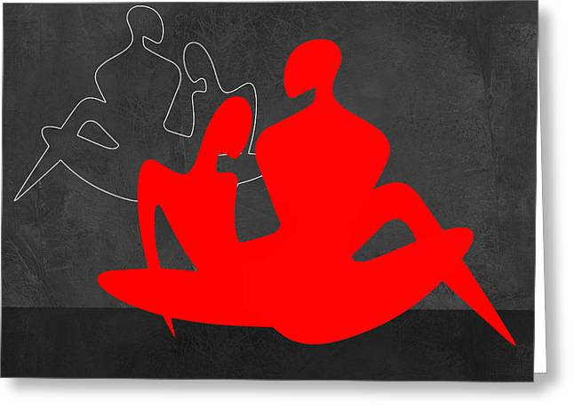 Red Couple 3 Greeting Card