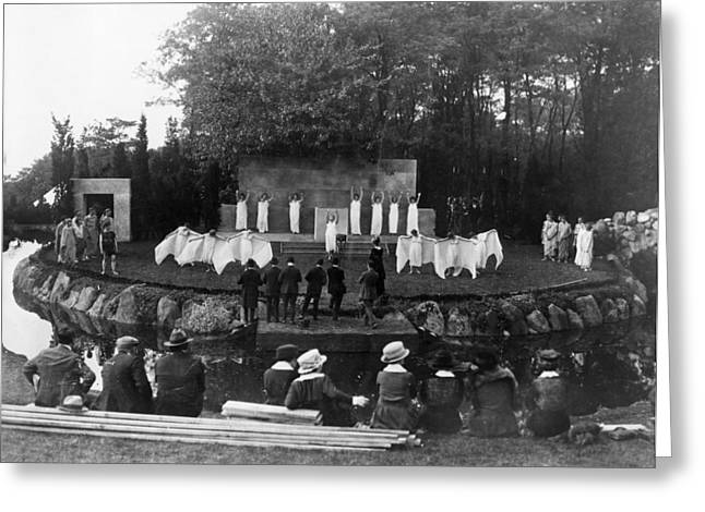 Red Cross Pageant, 1917 Greeting Card by Granger