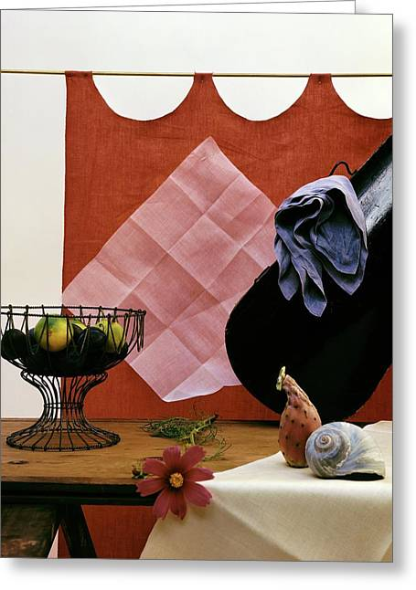 Red Curtains Greeting Card