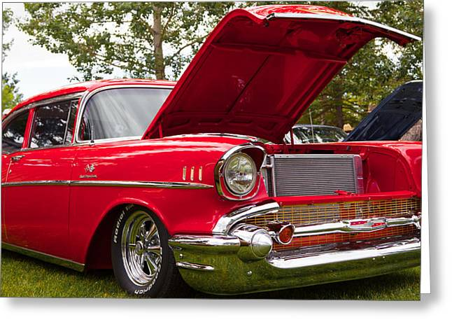 Greeting Card featuring the photograph Red Customised Car by Mick Flynn
