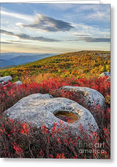 Red Dawn Greeting Card by Anthony Heflin