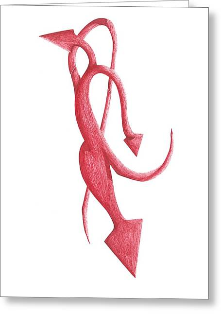Red Devil Greeting Card by Giuseppe Epifani