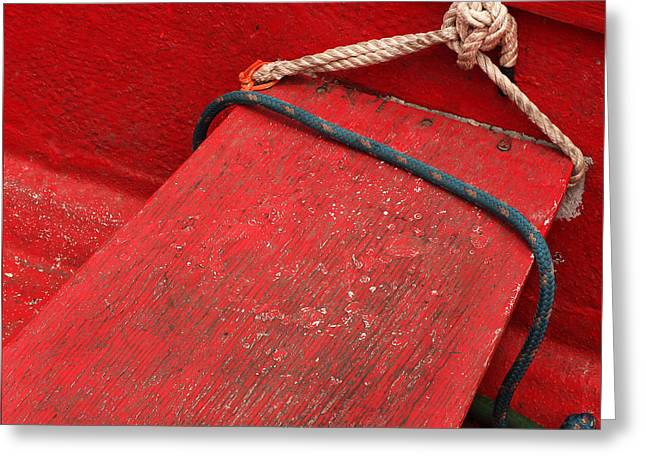 Red Dinghy Greeting Card