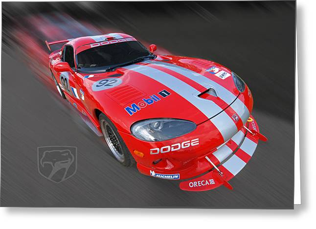 Red Dodge Viper Greeting Card