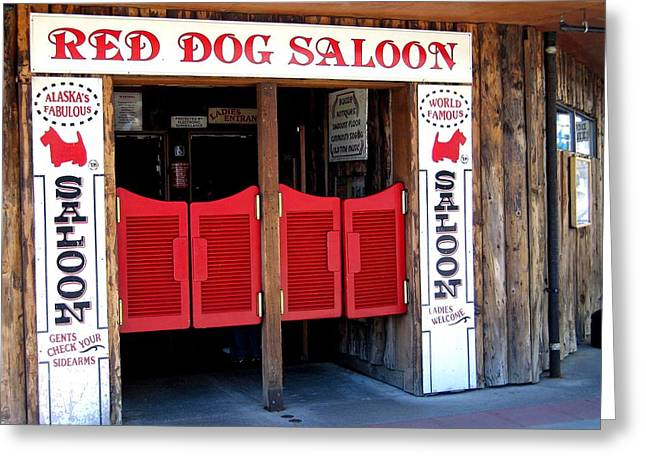 Red Dog Saloon Juneau Greeting Card