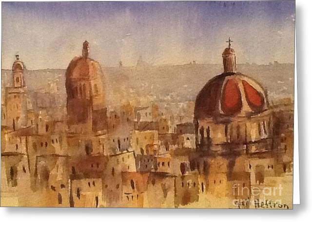 Red Domes Greeting Card