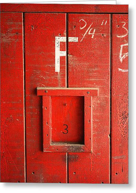 Red Door Greeting Card by Bobby Villapando