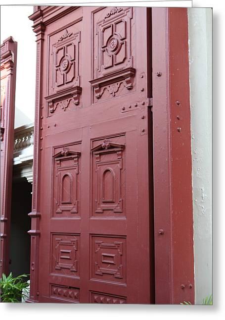 Red Door - Grand Palace In Bangkok Thailand - 01131 Greeting Card