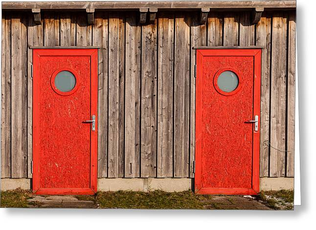 Red Door Or Red Door Greeting Card