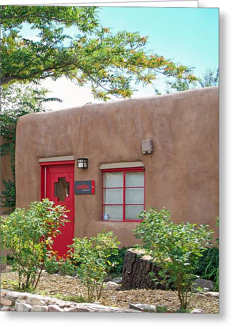 Greeting Card featuring the photograph Red Door by Sylvia Thornton