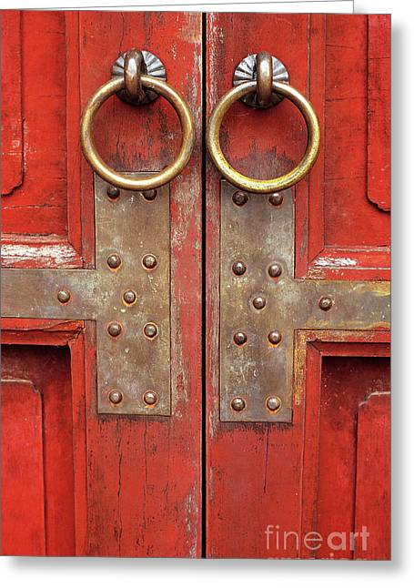 Red Doors 02 Greeting Card by Rick Piper Photography