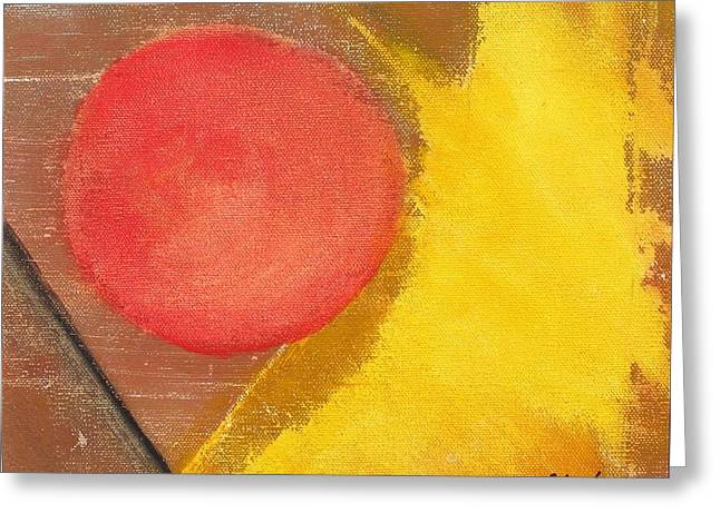 Red Dot Greeting Card by David s Newsome