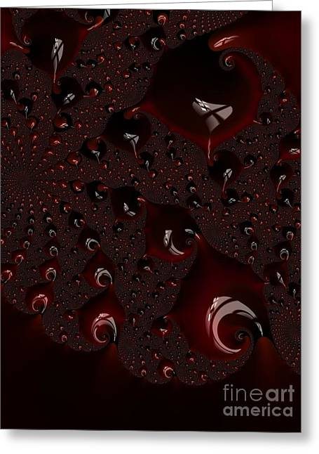 Red Droplets  Greeting Card by Heidi Smith