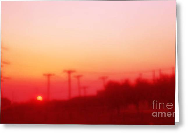 Red Dusk Greeting Card by Elena Nosyreva