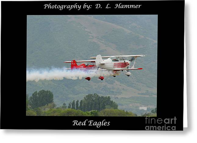 Red Eagles Greeting Card by Dennis Hammer