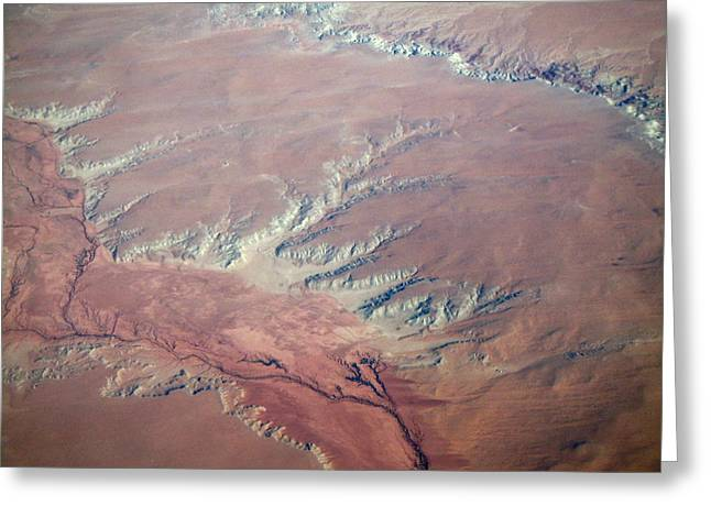 Red Earth Greeting Card by Pamela Schreckengost