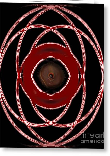Red Egg Greeting Card by Joe Russell