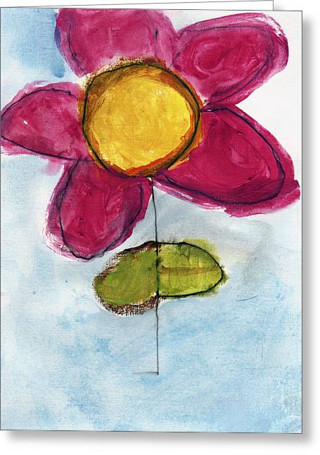 Red Flower Greeting Card by Skip Nall
