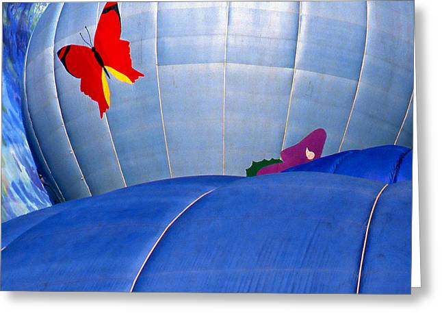 Red Flutterby Greeting Card by Ken Evans
