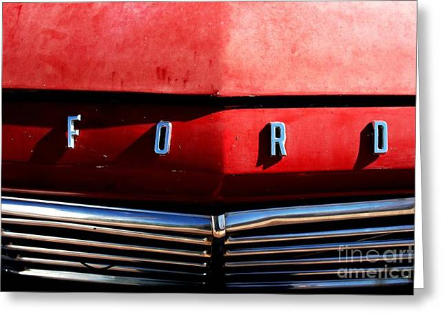 Red Ford 1 Greeting Card by Kathlene Pizzoferrato