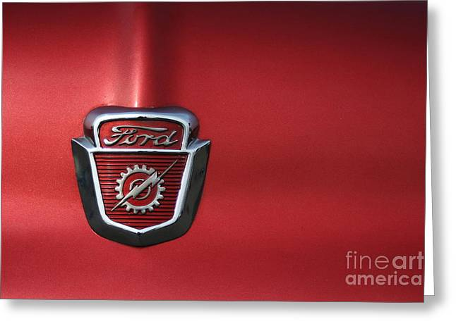 Red Ford 2 Greeting Card by Kathlene Pizzoferrato