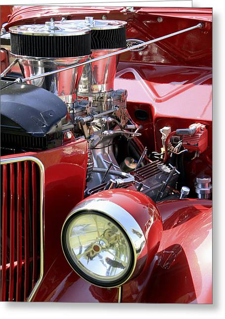 Red Ford Greeting Card by Bob Slitzan
