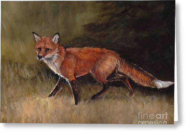 Red Fox Greeting Card by Charlotte Yealey