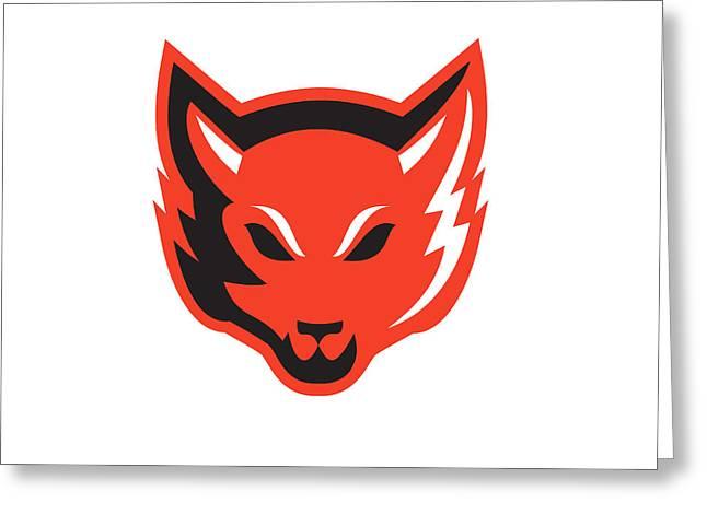 Red Fox Head Front  Greeting Card by Aloysius Patrimonio