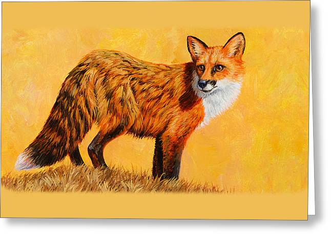 Red Fox Painting Iphone Case Greeting Card