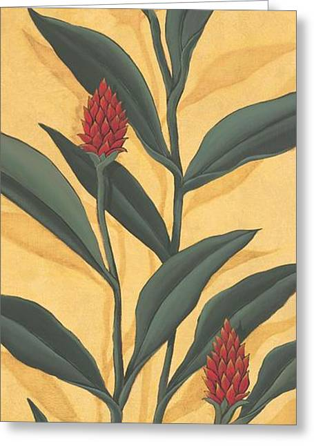 Red Ginger Greeting Card by Paul Brent