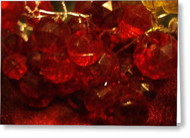 Red Glass Grapes Greeting Card