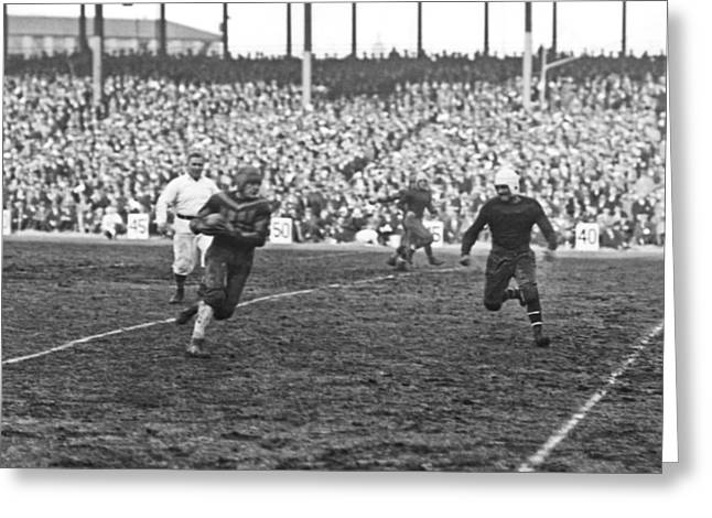 Red Grange Ny Pro Debut Greeting Card