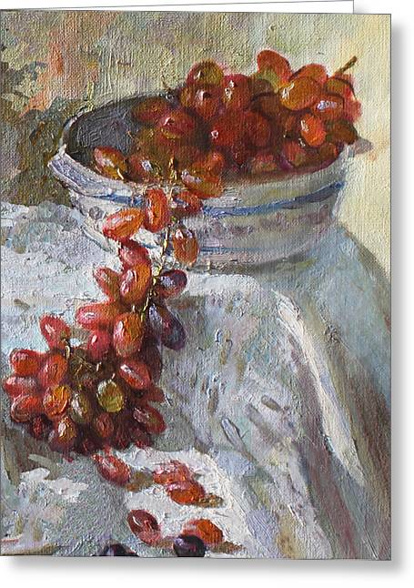 Red Grapes Greeting Card