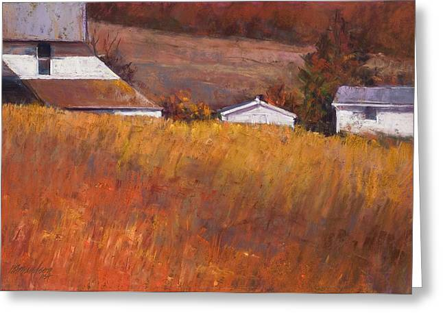 Red Grass Greeting Card by Beverly Amundson
