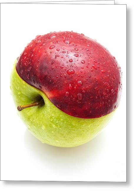 Red Green Apple Greeting Card by Sinisa Botas