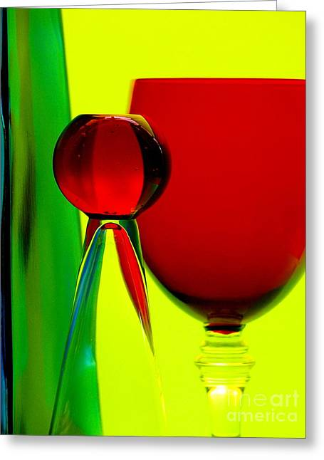 Greeting Card featuring the photograph Red Green Yellow by Trena Mara