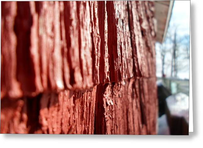 Red Gristmill Greeting Card by Jenna Mengersen