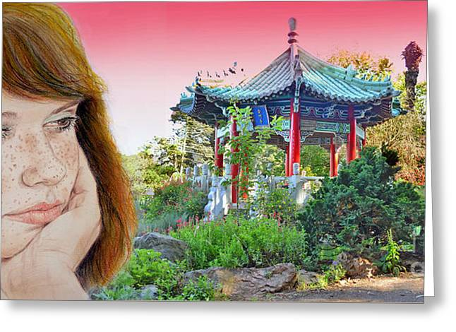 Red Hair And Freckled IIi Altered Version  Greeting Card by Jim Fitzpatrick