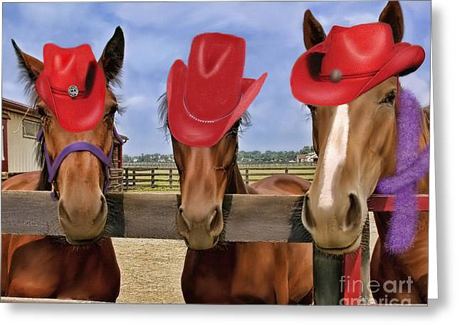 Red Hat Ladies Greeting Card