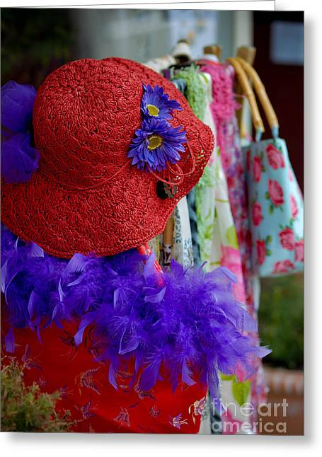 Red Hat Society Greeting Card by Amy Cicconi