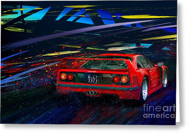Red Head Riot Greeting Card by Alan Greene